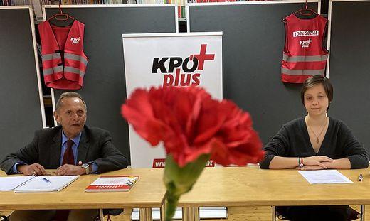 """Horst Pilhofer und Beam Samwald treten als Führungsduo für die """"KPÖ plus"""" an"""