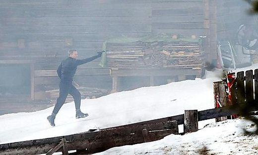 Daniel Craig schießt sich als James Bond durch Obertilliach: Der Osttiroler Ort war aus dem Häuschen
