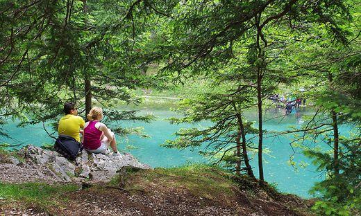 Der idyllische Grüne See hat in Corona-Zeiten enorm viel Zulauf aus ganz Österreich