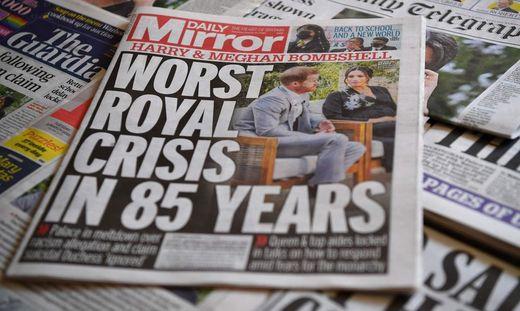 Die britische Presse in Aufruhr wegen des Interviews
