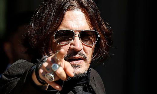 Johnny Depp bei einer der Gerichtsanhörungen in London