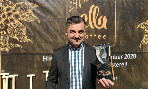 Unternehmer Miki Aleksic eröffnet Ende Dezember seine Kaffeerösterei in Villach