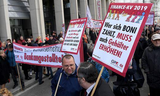 Banken-KV: Es gab bereits Protest-Aktionen