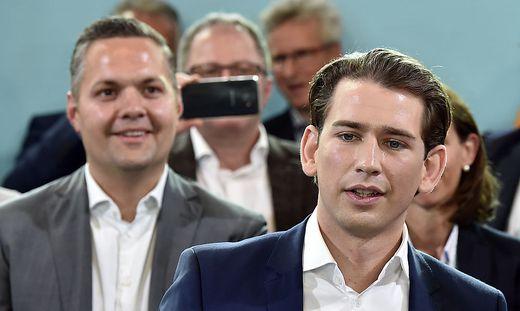 ÖVP-Generalsekretär Axel Melchior (links) übt Kritik