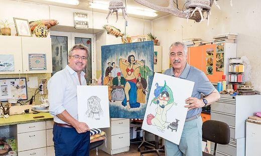 Bürgermeister Peter Koch überbrachte Glückwünsche zum Firmenjubiläum an Sherif Dergham