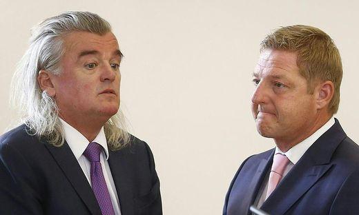 Günther Albel (rechts) und sein Anwalt Meinhard Novak wollen Diversion statt Strafe