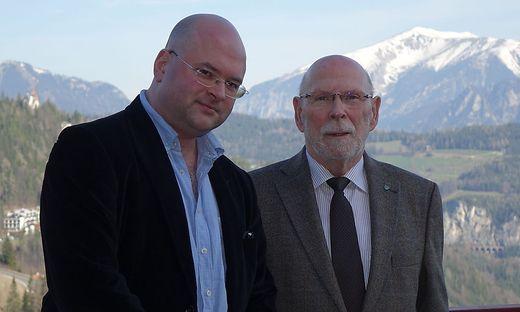 Intendant Florian Krumpöck und Bürgermeister Horst Schröttner