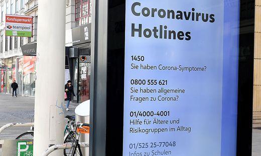 Die Corona-Hotline 1450 wird stark nachgefragt.