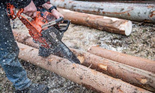 Ein 24-jähriger Mann verletzte sich bei Forstarbeiten (Symbolfoto)