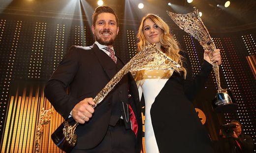 Anna Gasser und Marcel Hirscher holten wie im Vorjahr die Trophäe der Sportlerin bzw. des Sportlers des Jahres