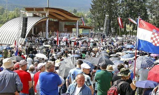Beim Kroatentreffen im Vorjahr wurden an die 10.000 Teilnehmer gezählt