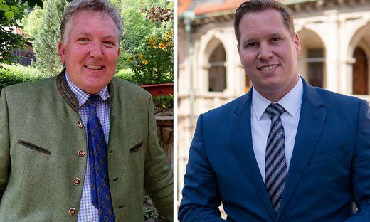 Muraus Bürgermeister Thomas Kalcher (ÖVP) und der Landtagsabgeordnete Marco Triller (FPÖ)