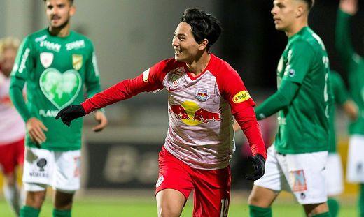 Takumi Minamino erzielte Salzburgs Goldtor