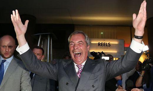 Endlich weg: Nigel Farage