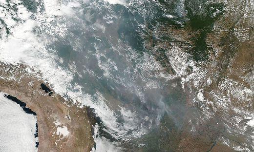 Ein Satelliten-Foto der Nasa zeigt die Brände im Amazonas