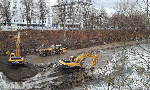 Zentraler Speicherkanal Baustelle Radetzkybrücke Foto: Penz
