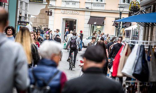 Rad Radfahren Innenstadt Klagenfurt Wienergasse