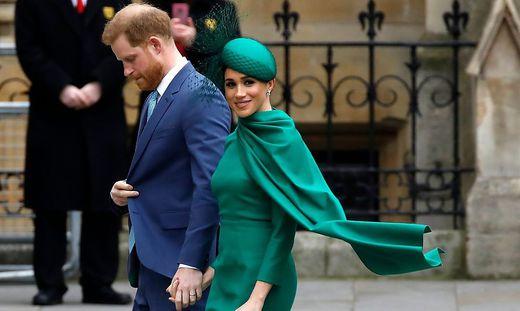 Kurz war die Leinge, lang ist der Schatten: Harry und Meghan bei ihrem letzten Auftritt im royalen Auftrag