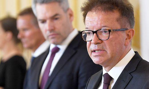 Innenminister Karl Nehammer und Gesundheitsminister Anschober