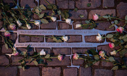 75. Jahrestag der Zerstoerung Dresdens