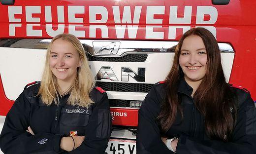 Viktoria und Elisabeth Felsperger von der Freiwilligen Feuerwehr Rosegg