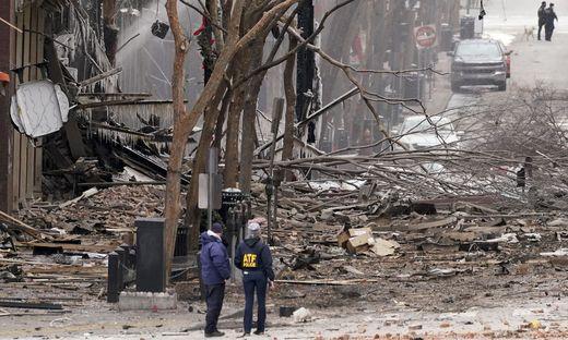 Heftige Explosion in der Innenstadt von Nashville