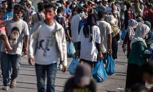 Im neuen Zeltlager haben derzeit 5.000 Migranten Platz