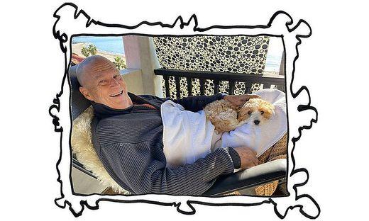 Jeff Bridges mit seinem Hund
