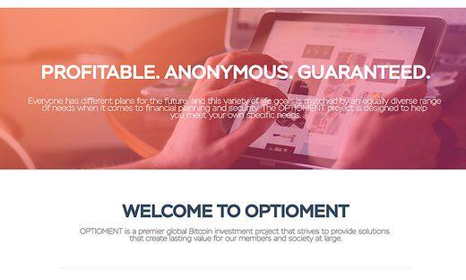 Im Webarchiv existieren noch Abbilder der Optioment-Webseite