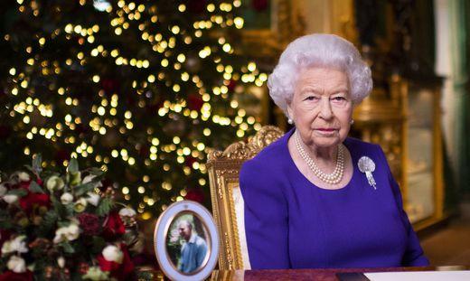 Elizabeth II. bei ihrer Weihnachtsansprache