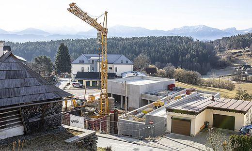 Mit dem Bau des neuen Ortszentrums wurde im Vorjahr begonnen