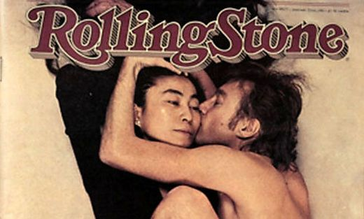 "Das berühmte von Annie Leibovitz fotografierte ""Rolling Stone""-Cover: Yoko Ono und John Lennon"