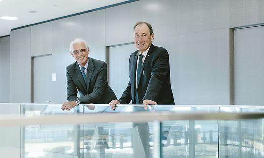 Der steirische Industrie-Präsident Stefan Stolitzka und RLB-Generaldirektor Martin Schaller