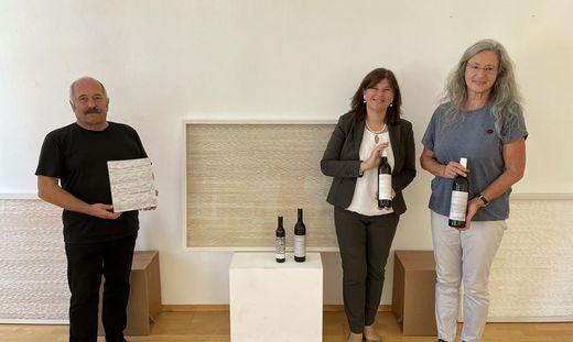 Kurator Klaus-Dieter Hartl, Schloss-Seggau-Chefin Andrea Kager-Schwar und Künstlerin Renate Krammer freuen sich auf die Ausstellung