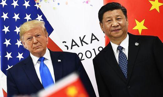 Trump mit Chinas Präsident Xi Jinping auf einem Archivbild