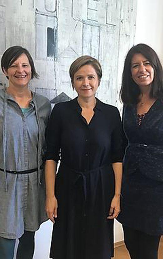 Doris Kaucic-Rieger, Judith Schwentner und Heidi Gaube (v.l.) wollen mehr Raum für Mädchen und Frauen in der Stadt