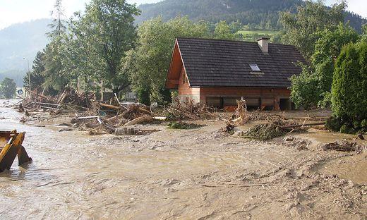 Das verheerende Hochwasser in Oberwölz 2011