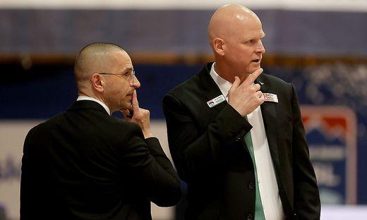 Michael Schrittwieser (links) und Mike Coffin analyisieren Gegner bis ins Detail