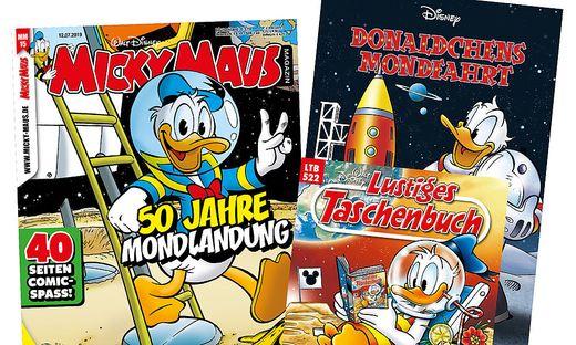 Enten auf dem Mond! Die Ducks feiern 50 Jahre Mondlandung
