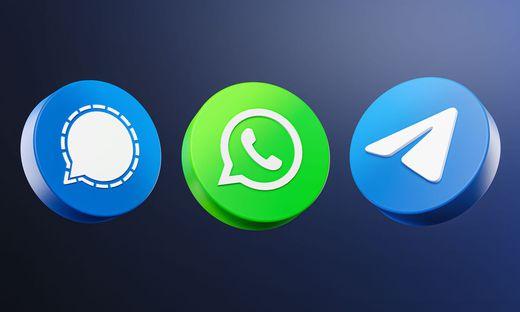 Konkurrenten: Signal, WhatsApp, Telegram
