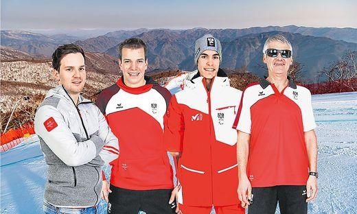 Die Kärntner Athleten, die von 9. bis 18. März an den Paralympics in Pyeongchang teilnehmen: Thomas Grochar, Markus Salcher, Nico Pajantschitsch und Gernot Morgenfurt (v.l.n.r.)