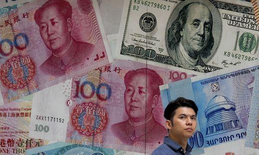 Der Yuan gibt im Vergleich zum Dollar stark nach