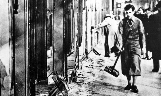 Demolierte jüdische Geschäfte