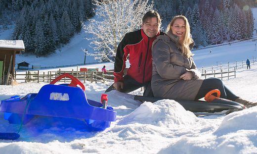 Rudi und Alexandra Sereinig laden zum Rodeln, Langlaufen und Skifahren ins Bodental.