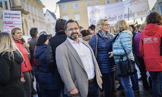 Protestkundgebung prtest Mitarbeiter privater gesundheitseinrichtungen sozialeinrichtungen