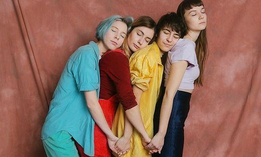 My Ugly Clementine = Mira Lu Kovacs, Sophie Lindinger, Kathrin Kolleritsch, Nastasja Ronck (von links)