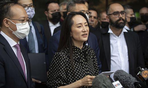 Meng Wanzhou nach ihrer Freilassung in Kanada
