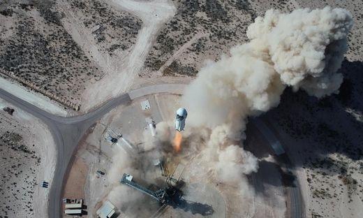 """Hebt heute ab: Die Raumfähre """"New Shepard"""" von Blue Origin"""