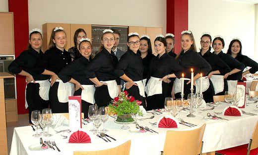 Die Schüler der HLW Hartberg bereiteten ein viergängiges Menü
