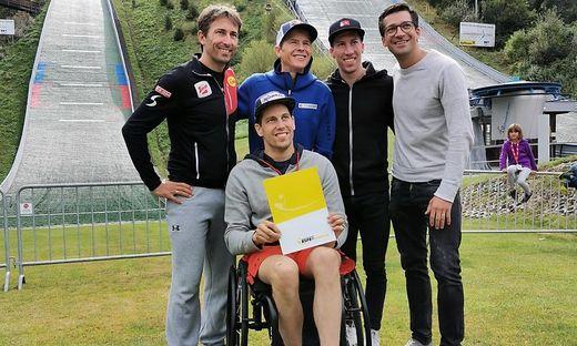 Haben Grund zu Strahlen: Willi Denifl, Lukas Müller, Andi Goldberger, Thomas Diethart und Andi Kofler